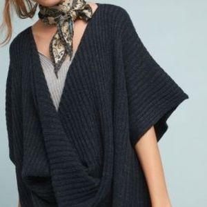 Twisted Ribbed Poncho